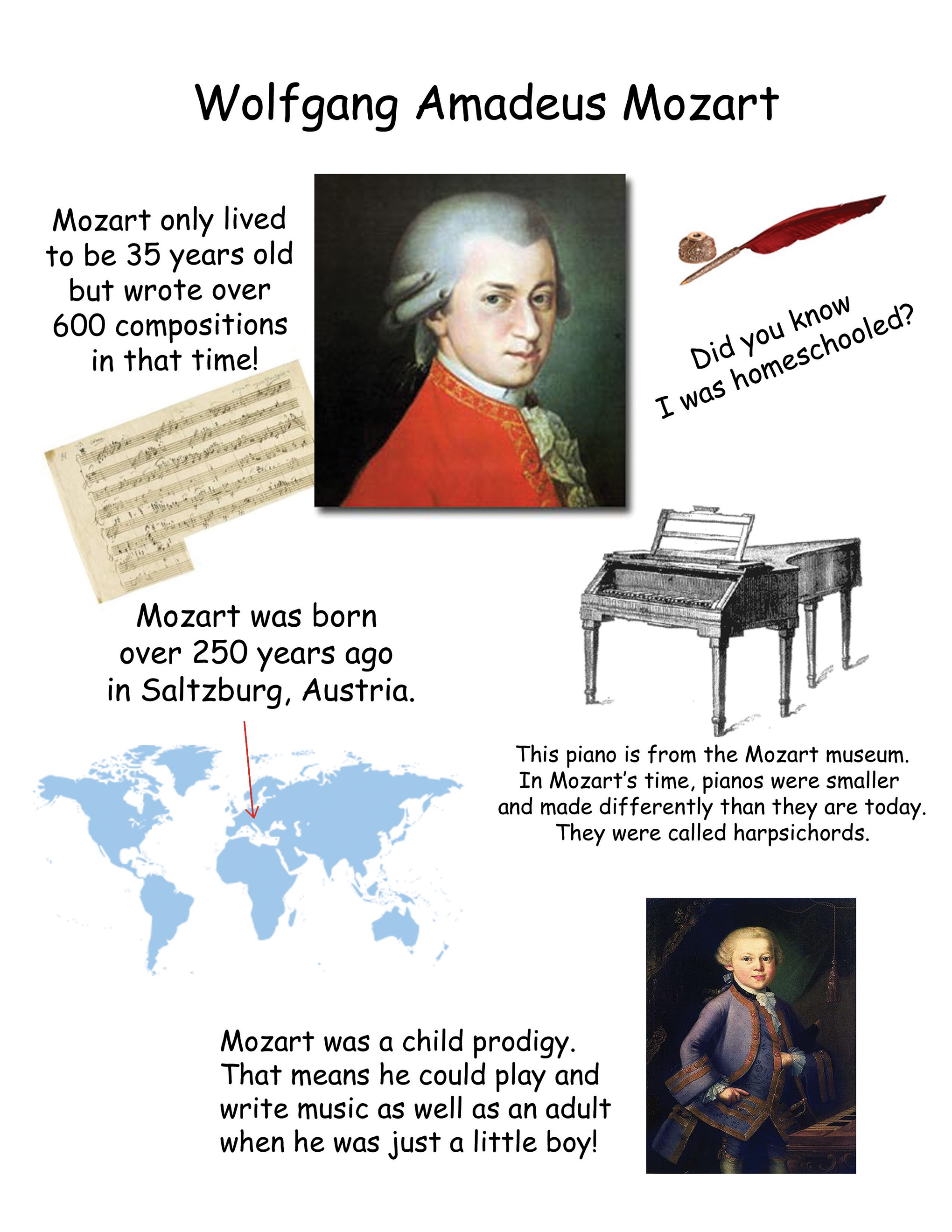 Free Mozart Coloring Pages